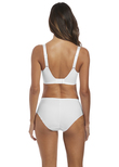 Illusion Side Support Bra White