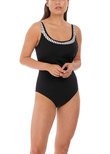 San Remo Underwire Swimsuit Black & White