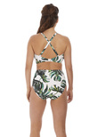 Palm Valley Bandeau Bikini Top Fern